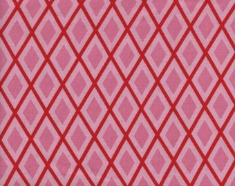 RJR BUGSY 2632 1 Red Diamonds On Pink Layers By The Yard