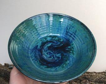 Zacs green serving bowl