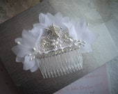 Custom Order Starfish Beach Themed Bridal Veil Comb Vintage Inspired Nautical Swarovski Crystals Vintage by HandcraftUSA