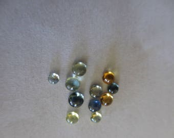 Tiny Sapphire Cabochons Parcel of 11
