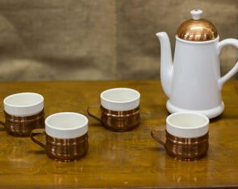 Completely Chic Copper Vintage Tea Set 5 Pieces