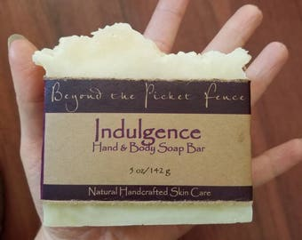 Lavender, Cedarwood and Cinnamon handcrafted essential oil soap