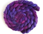 Tour de Fleece Companion Colorway, Merino/ Silk Roving (Top) - Handpainted Spinning or Felting Fiber, Racing Violet