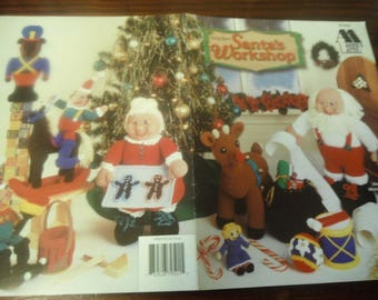 Christmas Crocheting Patterns Santa's Workshop Annies Attic 879501 Crochet Pattern Leaflet