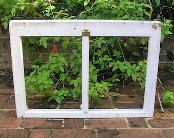 Antique Vintage Two Pane Window Frame