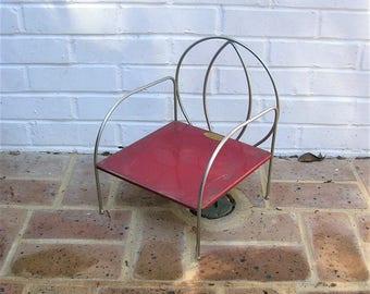 Antique Vintage Chair Antique Vintage Jack and Jill Kiddie Chair Antique Vintage Metal Chair Childs Chair
