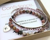 Confidence Bracelet - She Believed She Could Bracelet  - Graduation Gift for her - Initial Bracelet  - Inspirational Jewelry - Motivational