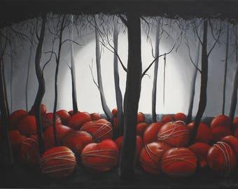 Ethereal Surreal Painting - Daliesque Twilight Woodland Forest Surrealism Fantasy Art Symbolic Painting