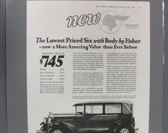 Pontica #103   Pontiac Six     Magazine Ad -  1928