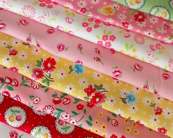 11 Fat Quarters Bundle of Lecien's OLD NEW 30's Spring 2017 Cotton Fabrics in Multi ~ 2.75 yards total