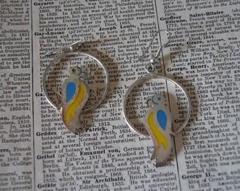 Vintage Sterling Parrot Earrings - VS