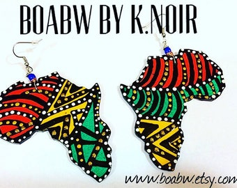 Blew Bead Afreekah Earrings