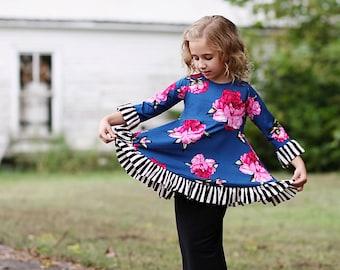 LillyAnnaLadies Natalie Girls Ruffle Shirt top LALA