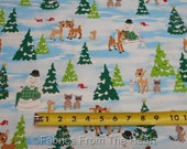 Rudolph Red Nose Reindeer Clarice Christmas Cartoon BY YARDS QT Cotton Fabric