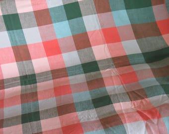 Vintage Russel Wright Tablecloth Sundeck Plaid   HTF