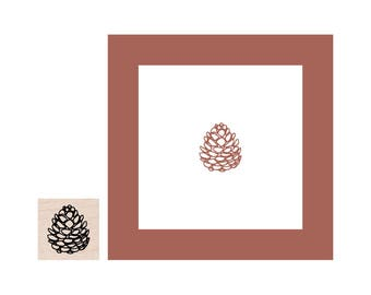 Mini Pinecone Rubber Stamp