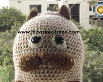 Alpaca Animal hat Mister Cat FREE SHIPPING Worldwide
