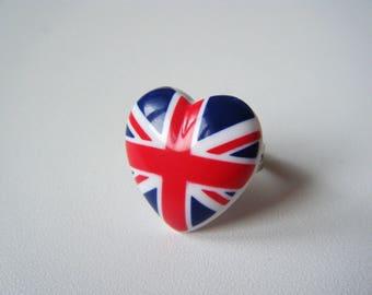 Ring - Heart UK - British Union Jack love