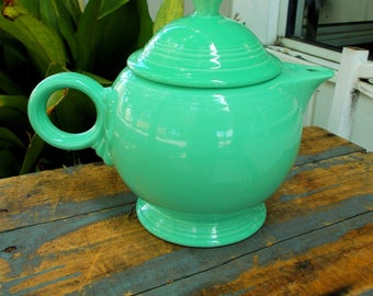Teapot & Lid  Fiesta Seamist  Green Retired  by Homer Laughlin Seamist Green  Produced 1991-2005