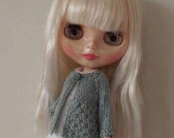 BLYTHE CARDIGAN/TOP, Duck Egg Blue, Blythe outfit, Blythe clothes, Blythe knitted top/blythe crochet