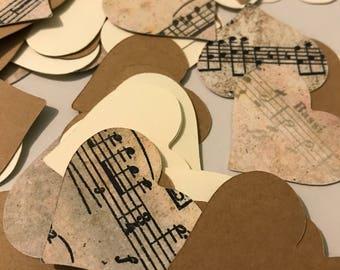 Heart confetti music theme 100 pieces