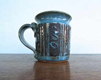 Handsome Studio Pottery Hand-Built Mug Similar to Vintage Danish Faiance Work