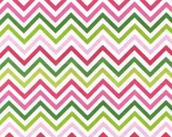 Two (2) Yards - Zig Zag Remix Print by Ann Kelle AAK-10394-238 Garden