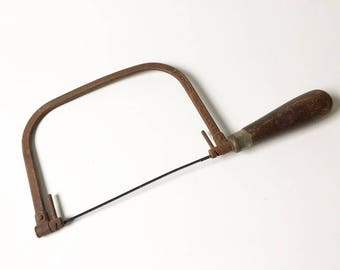 Coping saw Woodworkers Saw Rustic Saw Rustic Tools Farmhouse decor Rusty saw Decorative saw