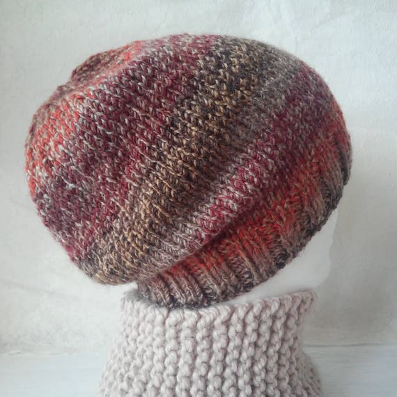 Easy Slouchy Hat Knitting Pattern Straight Needles : KNITTING PATTERN/ CHARLEY Slouchy BeaniePattern/ Easy ...