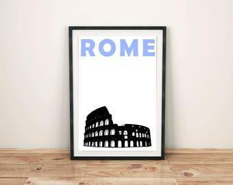 Rome Print // Italy Print // Italian Gift // Rome Poster // Italy Art // Rome Art // Italy Poster // Italian Art // Italian Poster