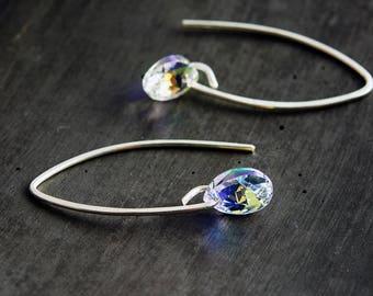 Crystal Earrings, Swarovski Crystal, Sterling Silver Ear Wire