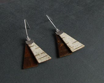 Birch bark earrings, Flip-side