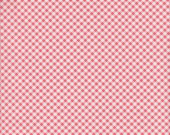 Art Gallery Amy Sinibaldi Les Petits Checks in Coral - Half Yard