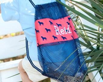 Dog Days drawstring mesh bag~Drawstring bag~Gym Bag~Toy Bag