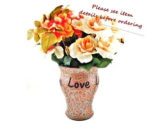Custom made vase for Wedding gift or Anniversary gift, Personalized vase with names and date only