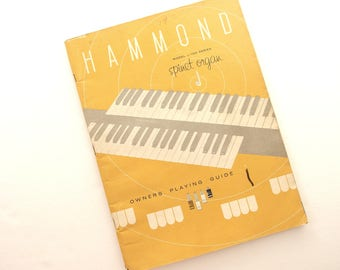 Hammond Model L 100 Spinet Organ Owners Playing Guide