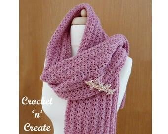 Lightweight Shawl Crochet Pattern (DOWNLOAD) CNC59
