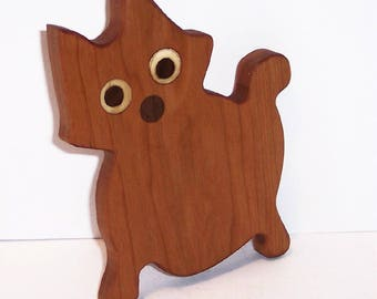 MINI KITTY Cutting Board Handcrafted from Cherry Hardwood