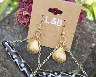 Naturally shed horn beads with brass accents