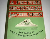 intage (1945) Picture Dictionary for Children for Collecting or Crafting