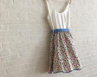 Tea dress {little tulips } size 8-10
