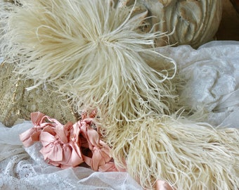 Lovely Vintage French Ostrich Feather Trim