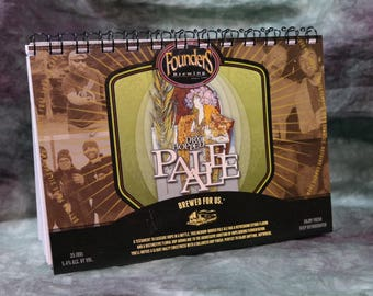 Spiral Notepad/Sketchpad from Recycled Founders Brewing Dry Hopped Pale Ale 6-Pack Beer Carton