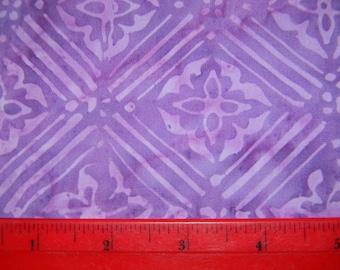 Lavender and Purple Cotton Batik Fabric