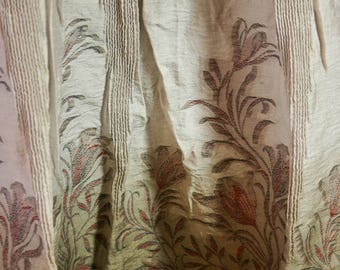 C360 Japanese Cotton Blend Brocade Fabric Panels in Beige, Burgundy & Olive