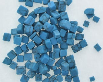 Turquoise  color Chips  half oz of assorted sized chips,  09190/TQ