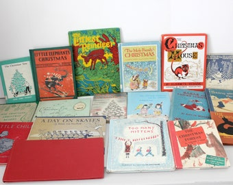 18 Christmas Books for Children, 1st Pressings, Kids Books, all Vintage