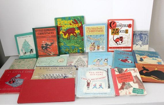 18 Vintage Christmas Books for Children, 1st Pressings, Kids Books