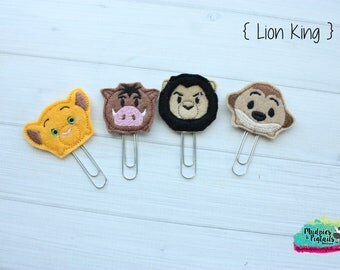 Planner Paper Clips { Lion King } simba, scar, timon, pumba planner accessories, bookmark  kikkik, happy planner