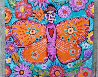 Day of the Dead Mexican Folk Art Painting